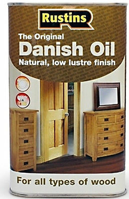 Rustins Worktop and Wood Danish Oil - 500ml Can Furniture Protection