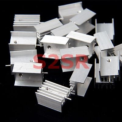 10pcs IC Aluminum Heat Sink With Needle fit for TO-220 Mosfet Transistors