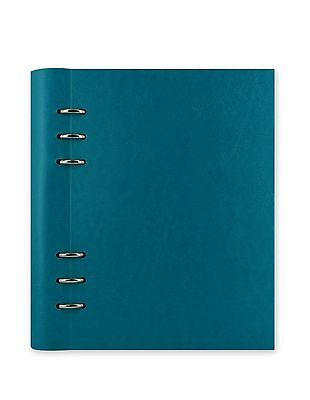 A5 Filofax Petrol Blue Clipbook Refillable Notebook Binder Leather Look Cover