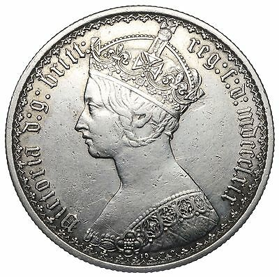 1869 Gothic Florin - Victoria British Silver Coin - Nice