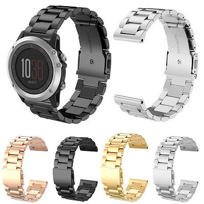 Stainless Steel Watch Band Replacement Wrist Strap For Garmin Fenix 3 Fenix3 HR