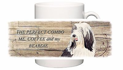 Bearded Collie Dog New Ceramic Mug Combo Sandra Coen Artist Watercolour Print