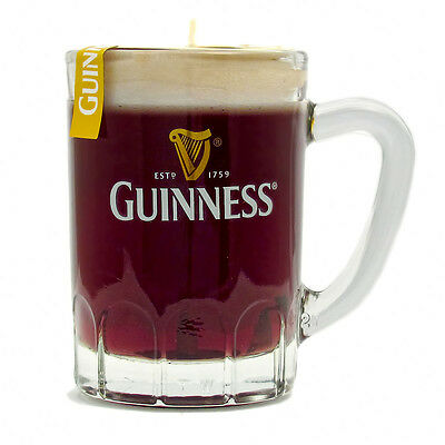 Genuine Guinness Candle in Glass Mini Tankard 7cm tall
