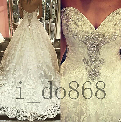 Strapless New White/ivory Wedding dress Bridal Gown custom size 6-8-10-12-14+