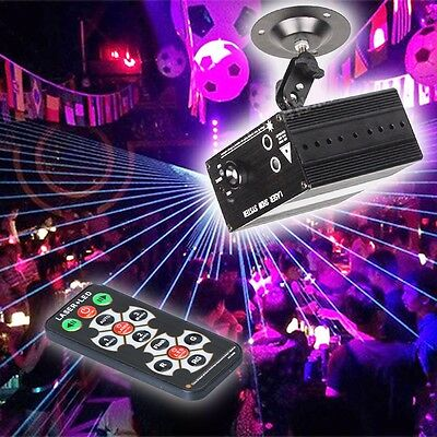 Mini LED RGB Stage Lighting Laser Projector Lights With Remote Disco Patry DJ