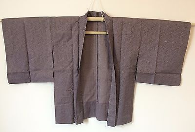 Authentic handmade Japanese grey see through Haori jacket for kimono (I420)