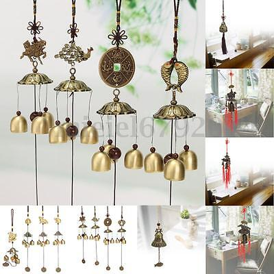 Chinese Bells Lucky Fengshui Hanging Coin Wind Chime Yard Garden Outdoor Decor