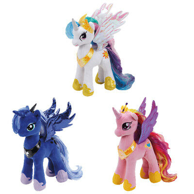 "Ty  My Little Pony Soft Toy Beanie - Princess Celestia, Cadance, Luna 9"" (23Cm)"