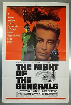 Night Of The Generals - Peter O'toole - Original American One Sheet Movie Poster
