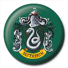 Harry Potter Pin Badge Button Brooch Slytherin School House Crest Logo Official