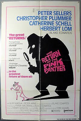 The Return Of The Pink Panther - Original American One Sheet Movie Poster