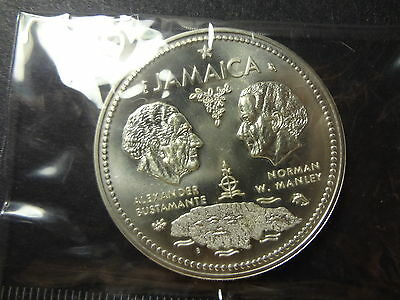 """Jamaica 1972 Silver 10 Dollars """" 10Th Anniversary Of Independence """""""