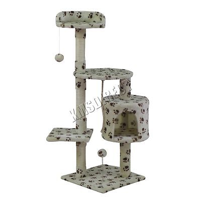 FoxHunter Kitten Cat Tree Scratching Post Sisal Toy Activity Centre BWP CAT806