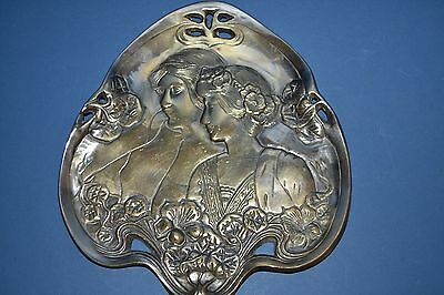 Antique Late 19th Century Art Nouveau Card Tray,Stylised Decoration, c1890