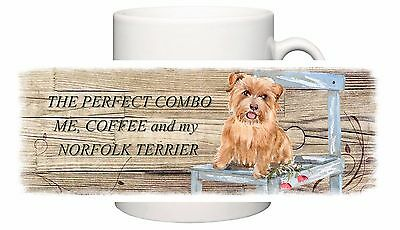 Norfolk Terrier Dog New Ceramic Mug Combo Sandra Coen Artist Watercolour Print