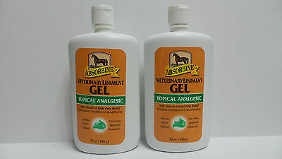 2X 12 Oz ABSORBINE VETERINARY LINIMENT GEL Muscle Joint Relief TOPICAL ANALGESIC