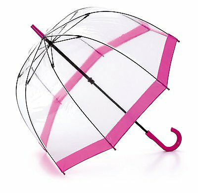 Quality Transparent Umbrella Dome Shape With Border See Through Ladies Men Large