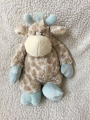 "NAT AND & JULES Blue Taupe Baby COLBY Stuffed Animal Plush GIRAFFE 14"" Demdaco"