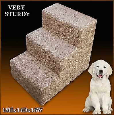 "Pet Steps for Dogs or Cats. 18"" Tall x 14"" Wide x 18""Deep."