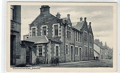 CONSTITUTIONAL CLUB, JOHNSTONE: Renfrewshire postcard (C9987)
