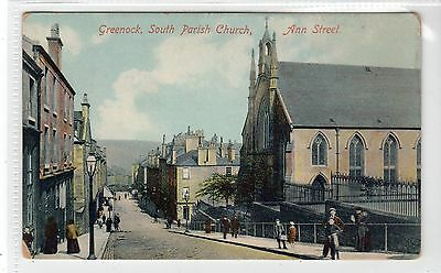 SOUTH PARISH CHURCH, ANN STREET, GREENOCK: Renfrewshire postcard (C10049)