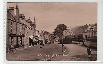 THE VILLAGE, BRIDGE OF WEIR: Renfrewshire postcard (C10186)