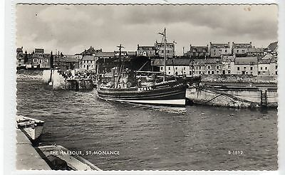 THE HARBOUR, ST. MONANCE: Fife postcard (C10266)