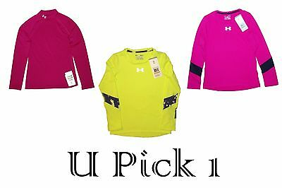 Under Armour Shirt Girls Youth Long Sleeve Sport Athletic Top Tee LS Coldgear T