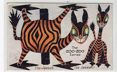 THE JAZZAH, ZOO-ZOO SERIES: Tuck cut-out postcard (C10305)
