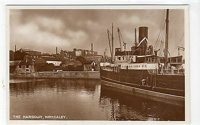 THE HARBOUR, KIRKCALDY: Fife postcard (C9719)