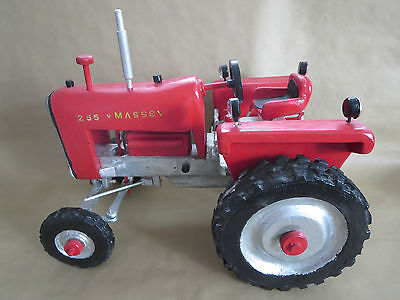 "Vintage Hand Crafted Wood Tractor ""massey Harris 255""  Folk Art"