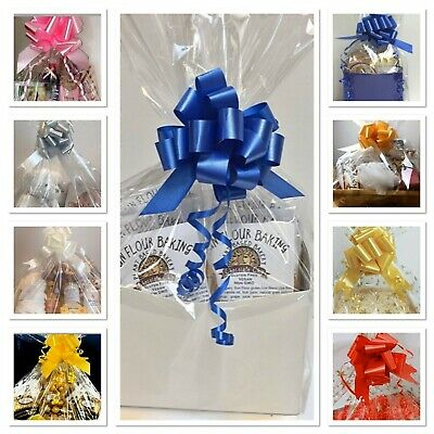 LARGE-XX Large Hamper Bag & Bow Quick & Easy To Assemble Cellophane Gift Wrap
