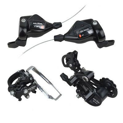 MTB Bike 7/8/9 Speed 3Pcs/set Groupset Shifters Front Rear Derailleur Group Set