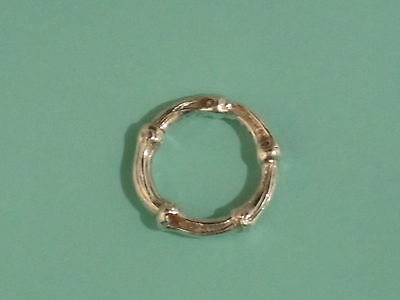 Rare Auth Tiffany & Co Silver Bamboo Ring Size 6.5