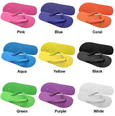 30 New Rubber Women's Flip Flops Wholesale Lot Many Colors