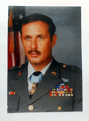 "3 1/2x5"" Color Photo Signed by Medal Of Honor Recipient Nick Bacon Americal"