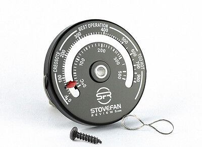 SFR Magnetic Stove Flue Pipe Thermometer for Wood Burner and Stove Fan Control