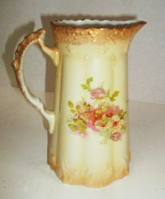 Vintage~Myott & Sons Semi Porcelain~England~Floral Pitcher~Beautiful~