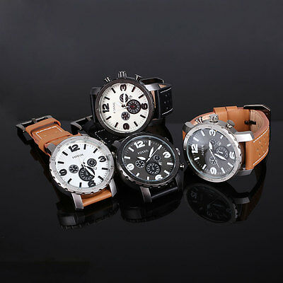 Fossil Men's Automatic PU Leather Analog Quartz Wrist Watch Sport Gift