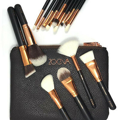 Zoeva New 15Pcs Cosmetic Complete Foundation Face Eye Bag Makeup Brush Set Kit