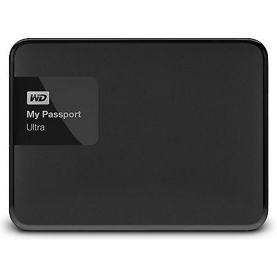 "Western Digital WD My Passport Ultra 4TB 2.5"" Portable External Hard Drive Black"