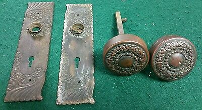 Antique Brass Door Handle/ Hardware Russell& Erwin MFC Co. New Britain Conn U.S.