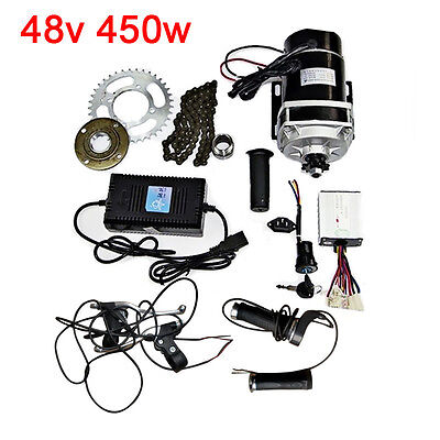 Electric Tricycle E-Bike Modification Brush Reduction Motor Kit Charger 48V 450W