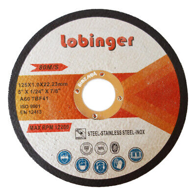 Lobinger Ø115 Ø125 Ø230 mm Flex Discs Cutting Stainless steel Metal Extra thin