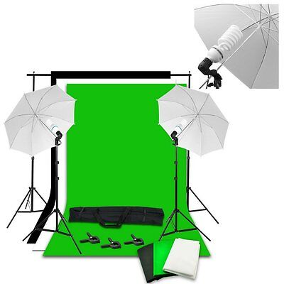 125W New Softbox Photography Soft Box Video Studio Lighting Backdrop Stand Kit U