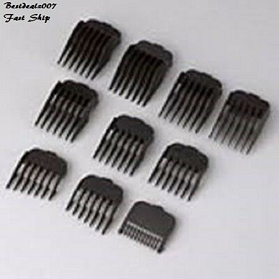 WAHL Hair Clipper 10 Pack Premium Cutting Guides GUARDS 3173-500 Professional