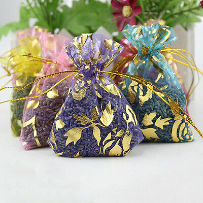 Lot of 3 Lavender Sachet Bags Organza Home Grown Divinely Scented Random Color