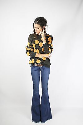 80s Honeycomb Unisex Sweater Jumper Pullover, XS Small 3979