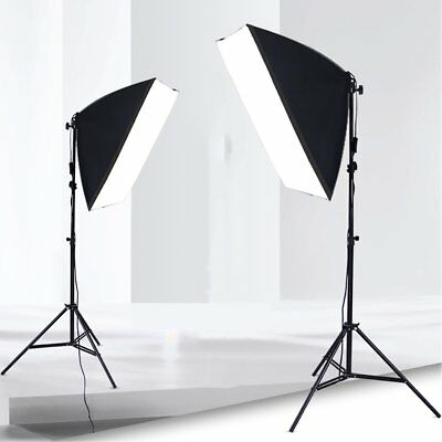 2x135W Studio Photography Continuous Lighting 50x70cm Soft Box Light Stand Kit A