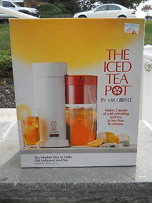 The Iced Tea Pot by Mr. Coffee New In Box Made In USA NEW IN BOX